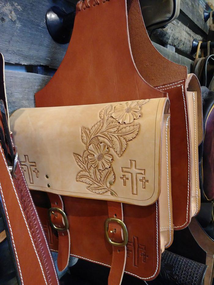 JBS Crosses and Roses saddlebags