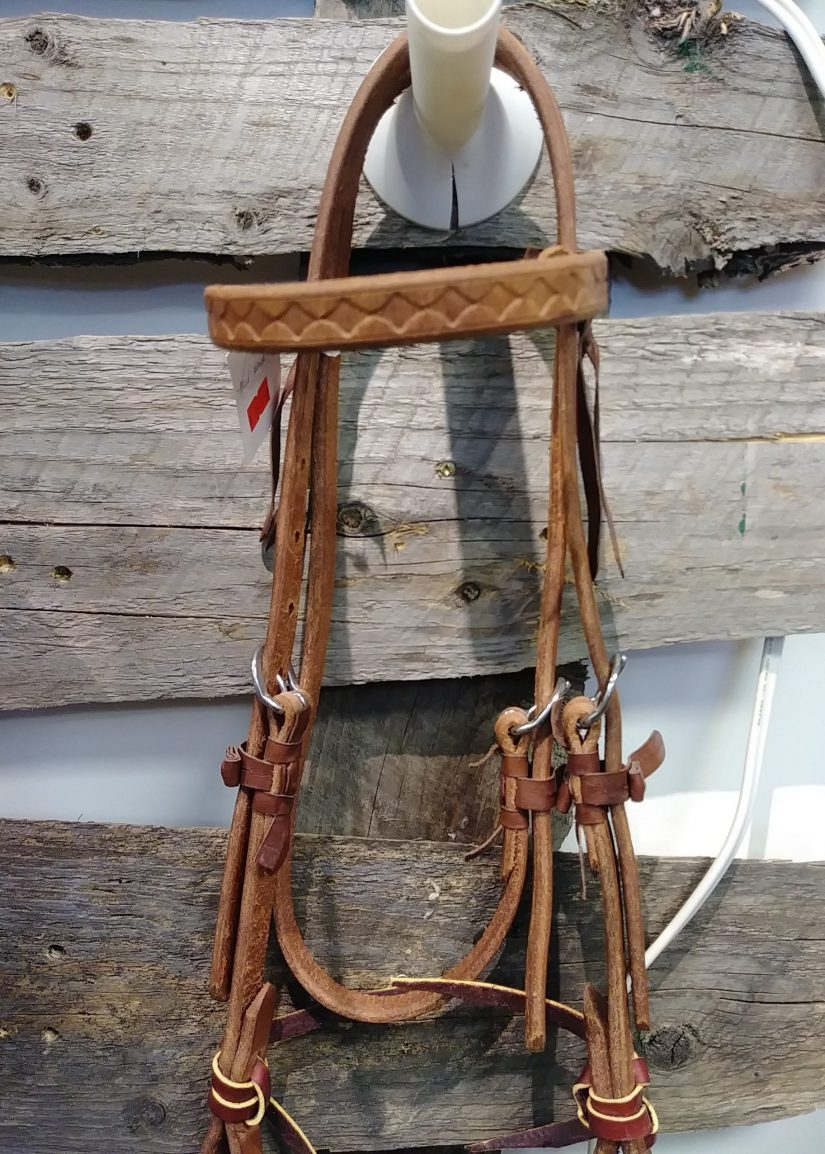 Hermann Oak leather working headstall