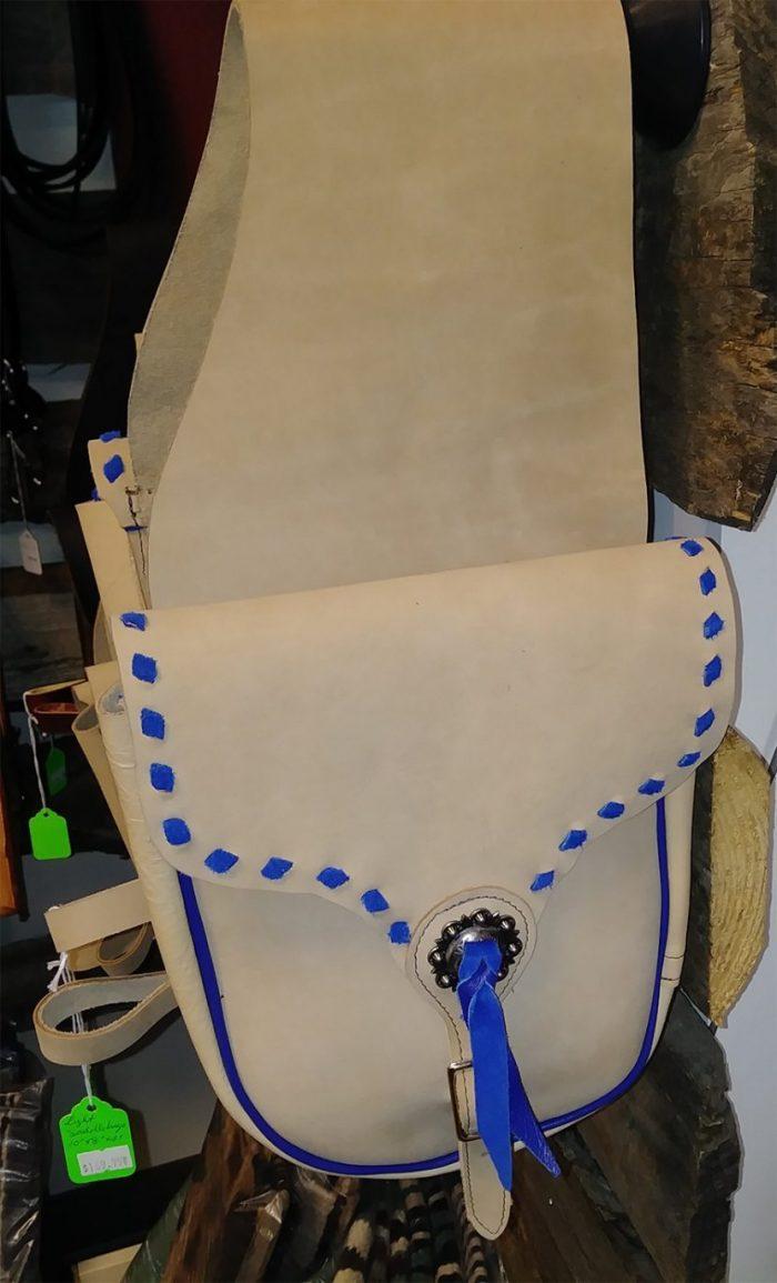JBS Lightweight tan saddlebags