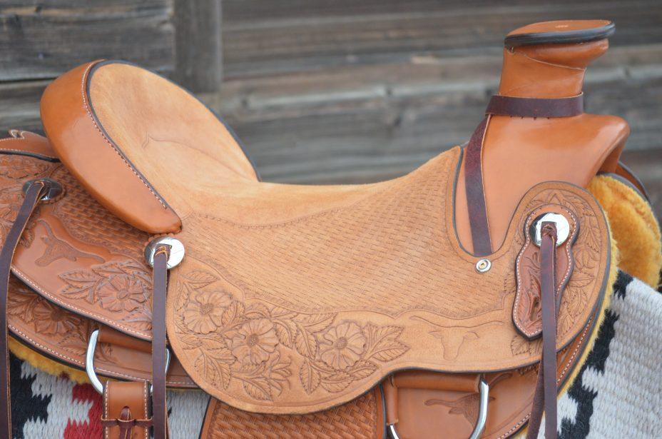 LazyM Saddles - Longhorns and Roses