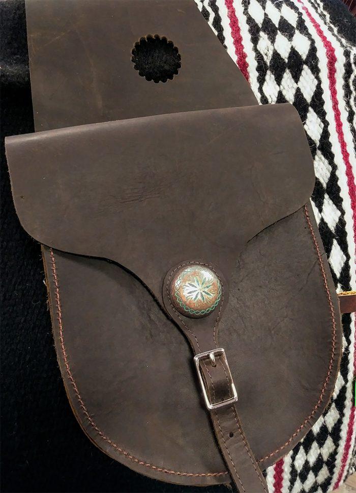 JBS Medium Round Pigskin saddlebags