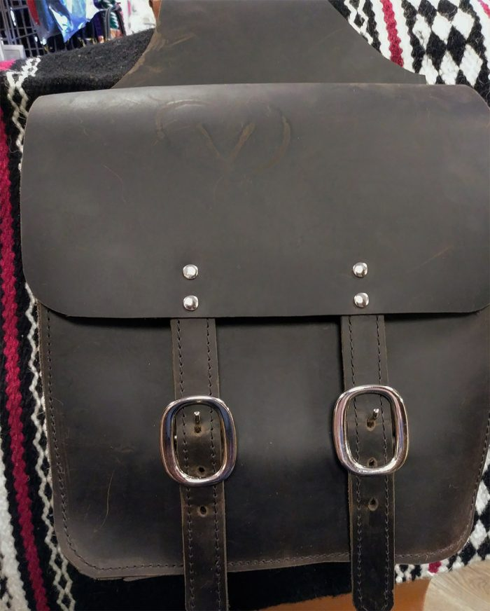 JBS Oil tan Square Bottom saddlebags