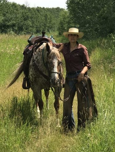 JBS custom chaps with horse