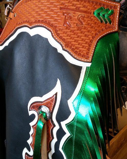 JBS custom bull rider chaps-