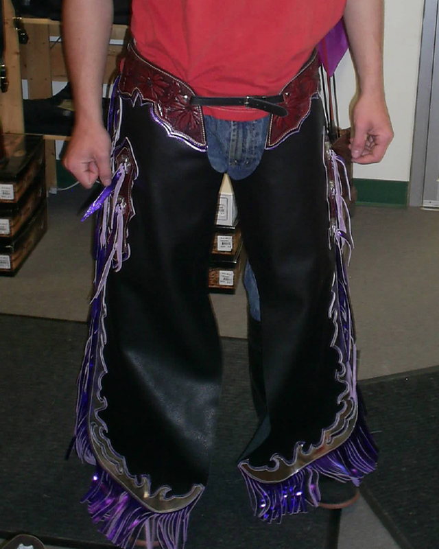 JBS custom bull rider chaps-2