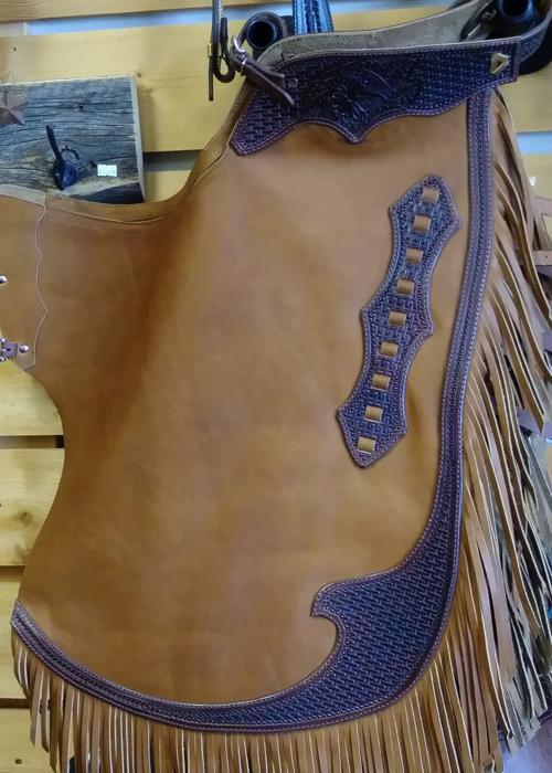 JBS custom working cowboy heavy chaps
