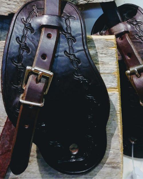 JBS dark barbwire spur straps-detail