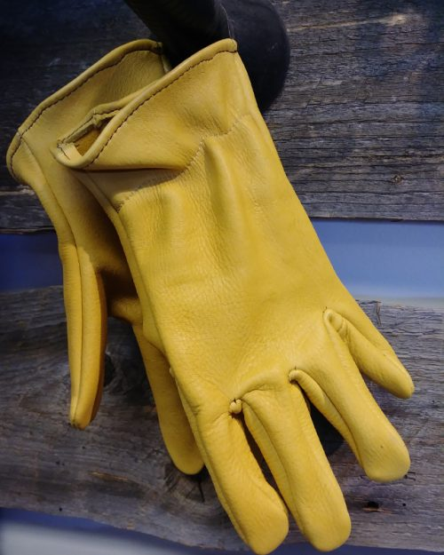 JBS deer hide gloves