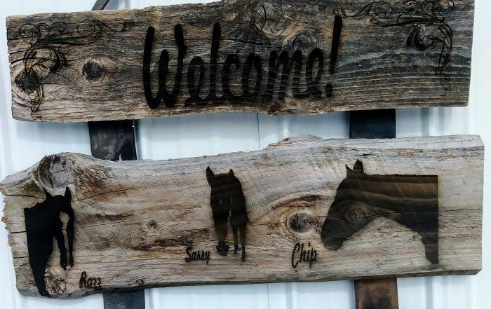 Rural Redneck Barn Board Signs